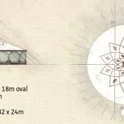 Grundriss und Abmessungen - Zirkuszelt